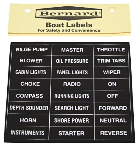 Boat Accessories Label