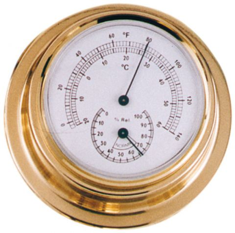 Thermometer & Hygrometer 70mm Face Diameter
