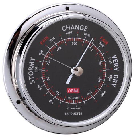 Barometer 95mm black face Diameter