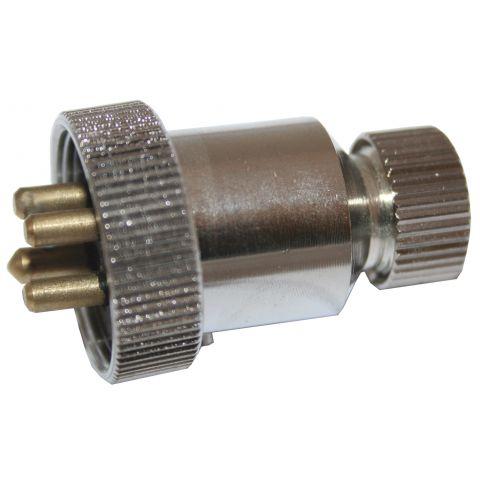 Power Plugs - Chrome Brass