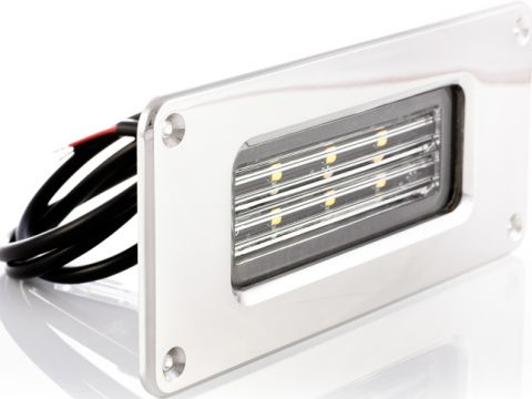 "BLUEFIN ""Firefly"" LED Stainless Flood Lights-RWB6363"