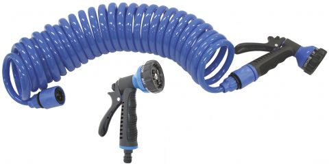 Coiled  Hose  With  Gun - Standard