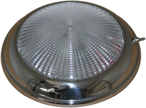 LED  Dome  Light - Low  Profile  Stainless