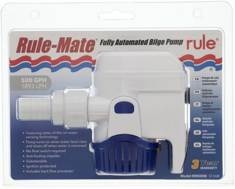 500 GPH (1890 LPH) Rule-Mate Automatic Pump