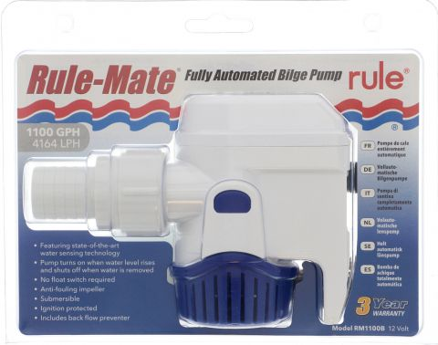 1100 GPH (4160 LPH) Rule-Mate Automatic Pump