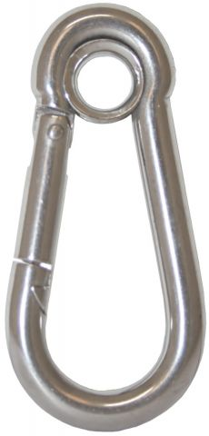 Snap Hooks With Eye - Stainless Steel